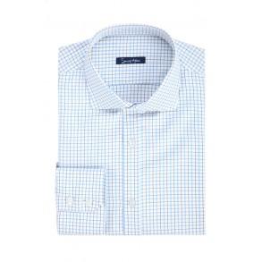 Мужская рубашка в голубую клетку Twill
