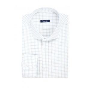 Мужская рубашка в голубую клетку Poplin Slim Fit