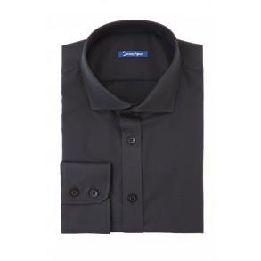 Черная рубашка Twill Slim Fit