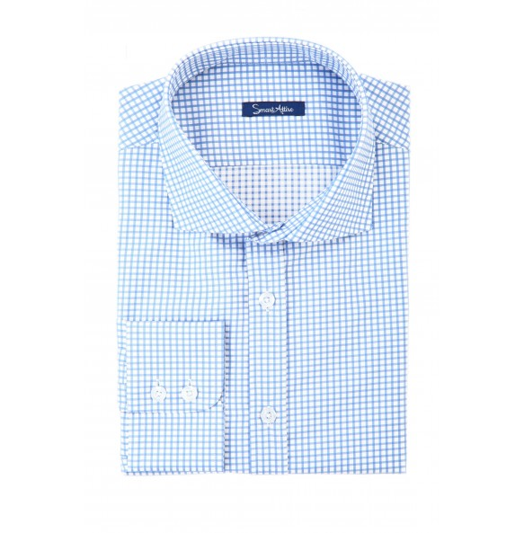 Мужская рубашка в синюю клетку Twill Tailored Fit