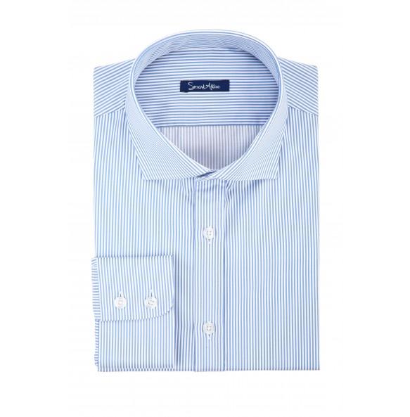Рубашка в синюю полоску Twill Slim Fit