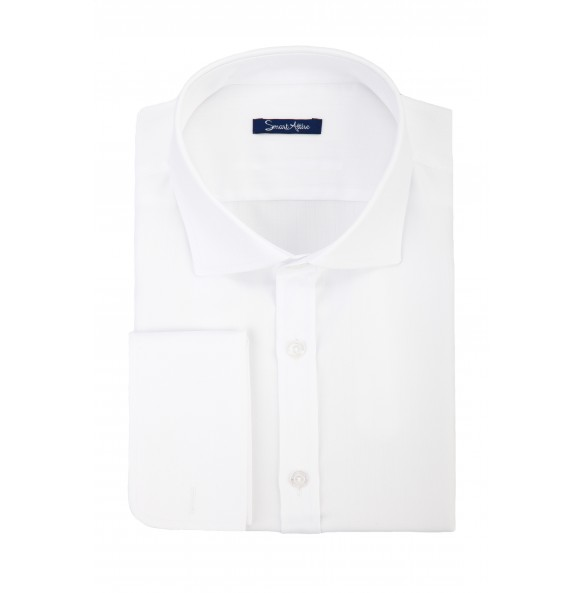 Белая рубашка Herringbone Slim Fit