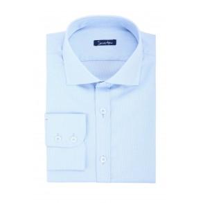 Голубая рубашка Oxford Slim Fit