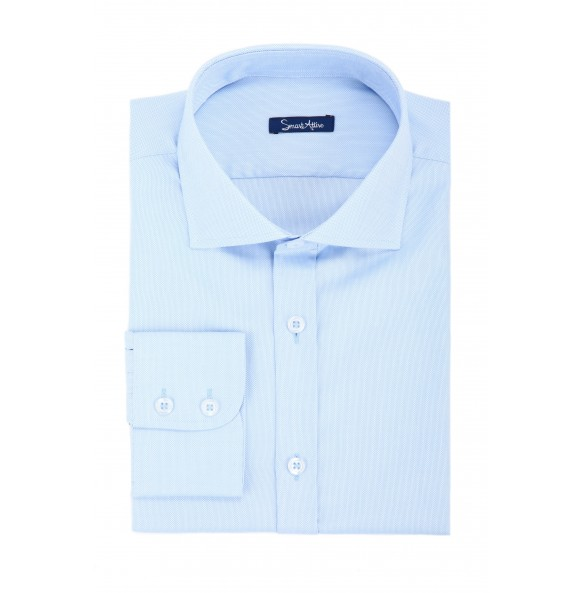 Голубая рубашка Oxford Slim Fit