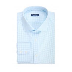Мужская рубашка в мелкую клетку Slim Fit