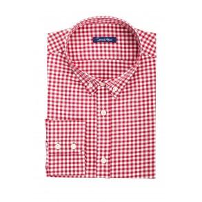 Мужская рубашка в красную клетку Tailored Fit