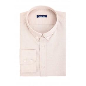 Бежевая льняная рубашка Slim Fit