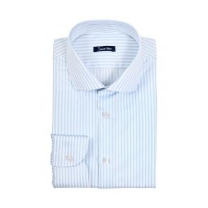 Рубашка в голубую полоску Twill Slim Fit