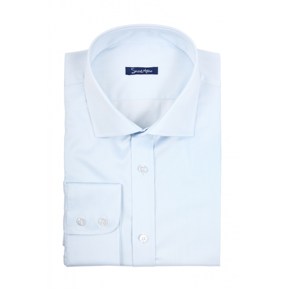 Голубая рубашка Dobby Slim Fit