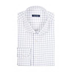 Рубашка в тонкую синюю клетку Twill Tailored Fit