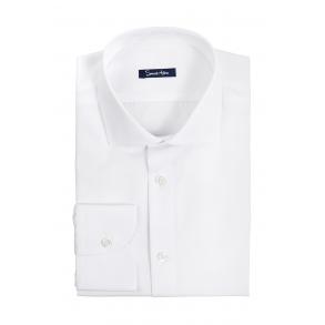 Мужская белая рубашка Poplin Slim Fit