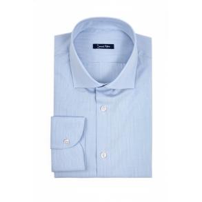 Голубая рубашка в клетку Poplin Slim Fit