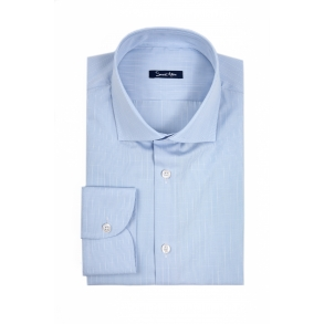 Голубая рубашка в клетку Poplin Tailored Fit