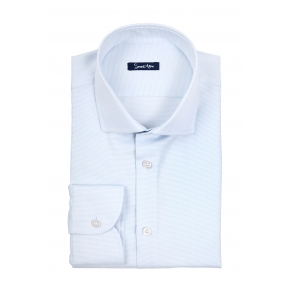 Голубая рубашка Twill Slim Fit