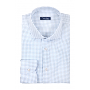 Рубашка в мелкую клетку Twill Slim Fit